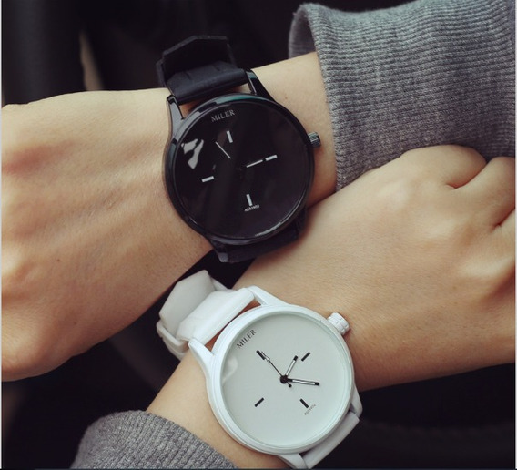 Relógio Original Luxo Miler Unisex Macio Pulseira Silicone