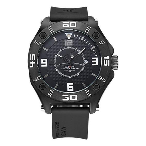 Relógio Para Homen Com Pulseira De Borracha Preto Original