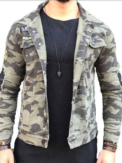 Jaqueta/blusa/casaco/slim Fit Militar Camuflada Masculina