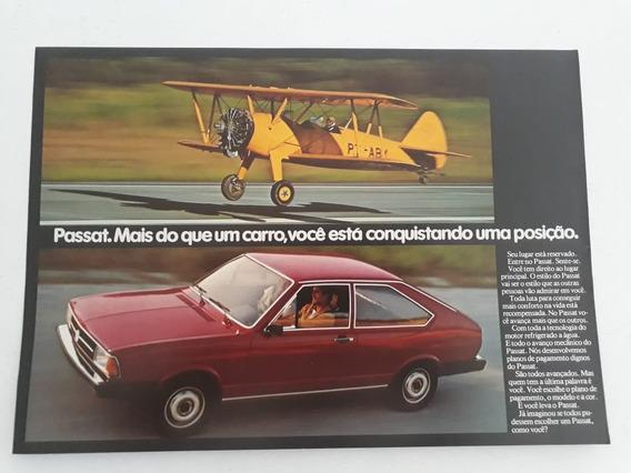 Folder Folheto Propaganda Vw Passat 1980 Brochura Prospecto
