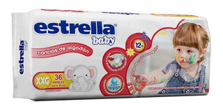 Estrella Baby Hiperpack Talle Xxg X 34 Pañales Mas De 14kg