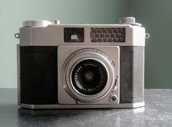 Máquina Fotográfica Olympus Wide E Peça De Colecionador