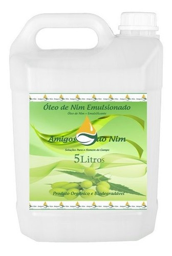 Óleo De Neem Repelente Concentrado Emulsionado De Nim 5 L