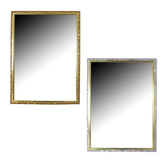 Kit 2 Espelhos Retangular Moldura Colors Cosy 14x19 Cm