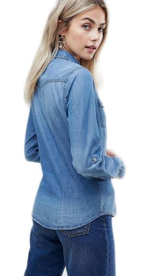 Camisa Jean Mujer Elastizadas - Cami Elastizadas Entalladas