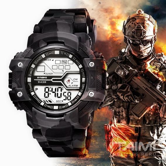 Reloj Deportivo Hombre Synoke Militar Digital Cronómetro