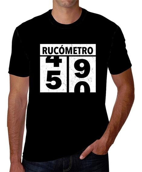 Playera De Hombre Estampada De Rucómetro Oldometer 49 A 50 Años