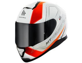 Capacete Thunder3 - Trace White-orange + Balaclava