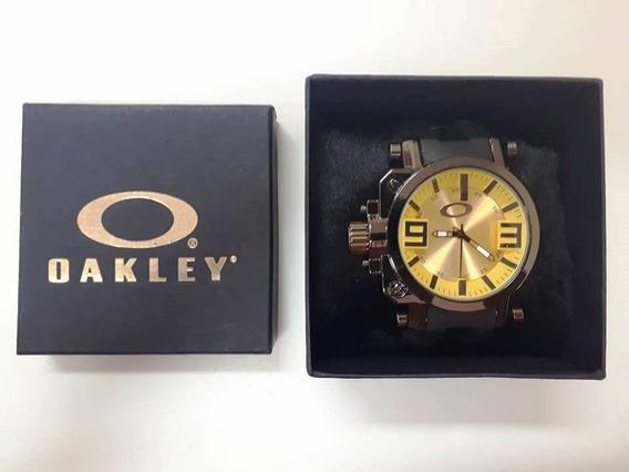 Relógio Titanium Oakley Masculino Gearbox Com Caixa, Barato