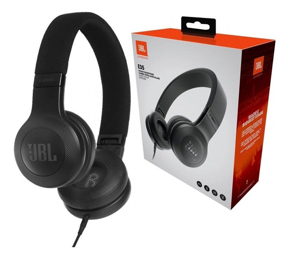 Fone De Ouvido Jbl E35 On Ear Original Preto