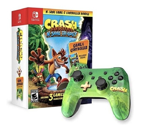Switch Crash Bandicoot Game & Controller