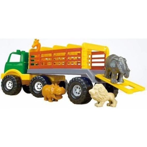 Juguete Nene Camión Jaula Safari Express Con Animales Rondi