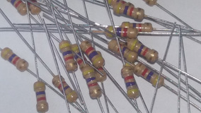 Resistor De Filme De Carbono 1/4 W 4,7k Ohm +- 5% 100 Pçs