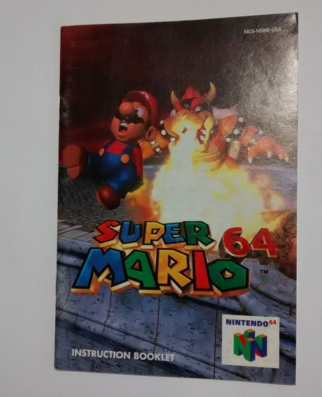 Manual De Intruções Super Mario 64 Nintendo 64 - Só Manual
