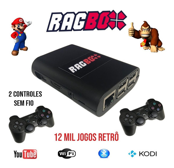 Ragbox 64 Com 12 Mil Jogos + Kodi + 2 Controles Sem Fio