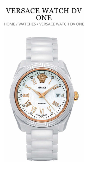 Relógio Versace Dv One Dv1 Cerâmica E Ouro Rosa 18kt Tag