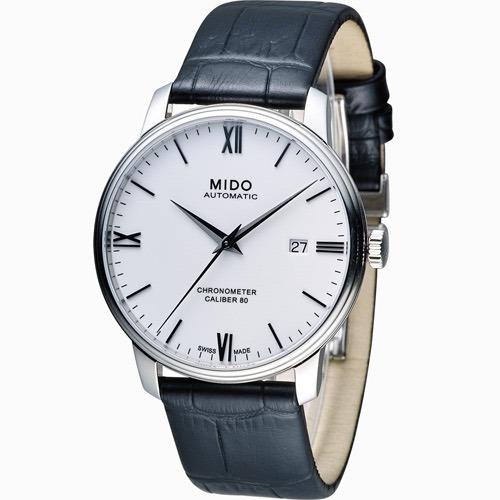 Relógio Mido Baroncelli Si M0274081601800 Automatico Couro