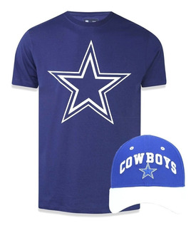 Kit Camiseta + Boné Dallas Cowboys Nfl New Era