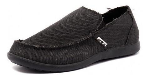 Nauticos Hombre Crocs Negro Zapatos Santa Cruz - Urbanos