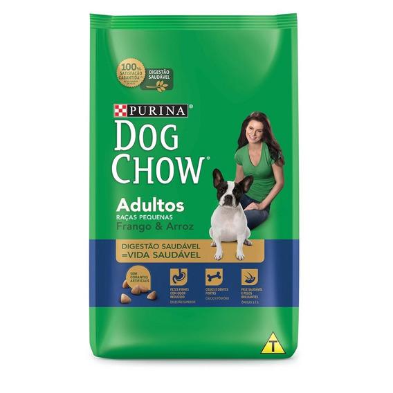 Purina Dog Chow Racao Seca Caes Adult Peq Frango Arroz 15kg