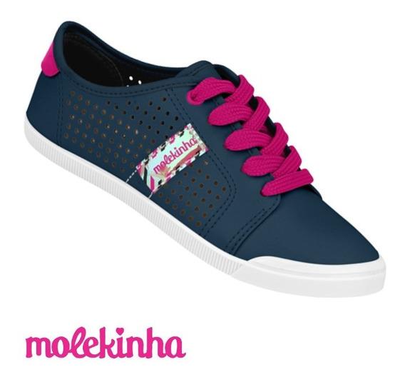 Tênis Feminino Infantil Molekinha Marinho Pink 2519.113