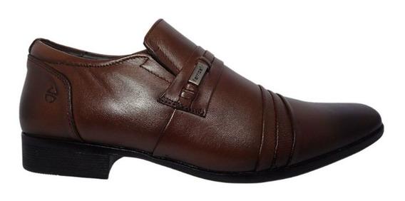 Sapato Masculino Social Couro Ge Marrom Ferricelli 010980
