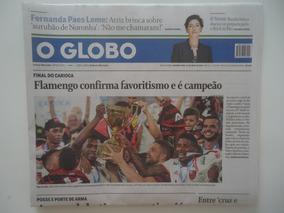 Flamengo Campeão Carioca 2019 Jornal O Globo