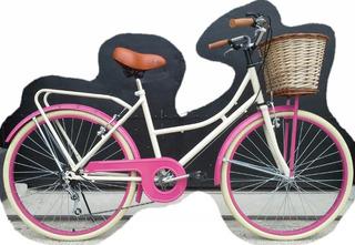 Bicicleta De Paseo Dama Vintage Con 5 Cambios