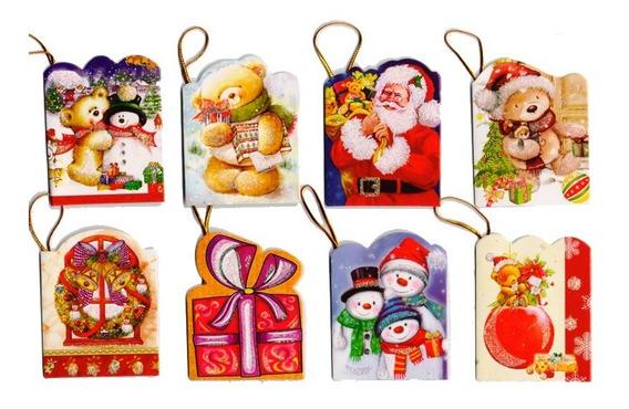 Tarjetas De Navidad Para Regalo Tarjetitas Para Regalar X 64