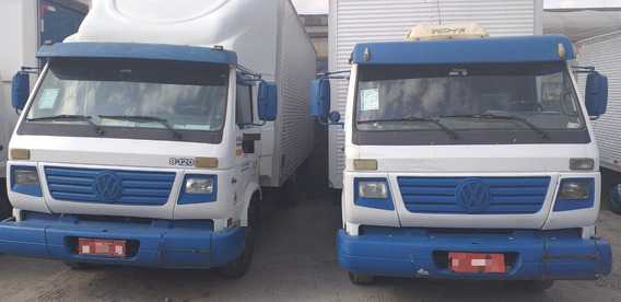 Renovação De Frota Caminhões 3/4 Vw 8120 Bau Único Dono
