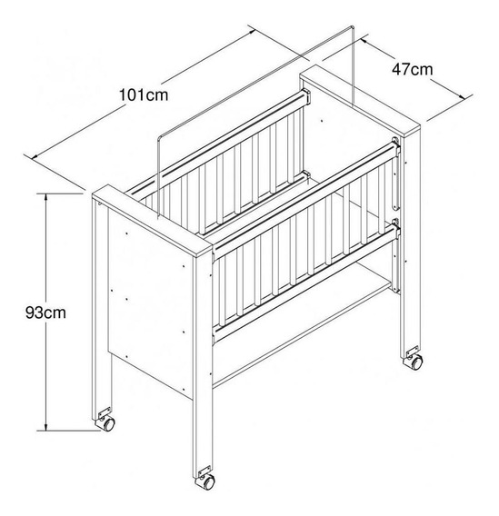 Berço Bedside Sleepers Escrivaninha Gominha Be1008 Art In Móveis - Branco