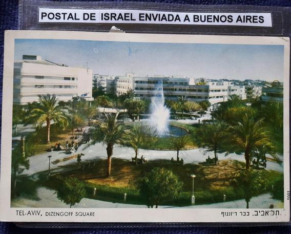 Antigua Postal De Telaviv Israel Enviada A Buenos Aires