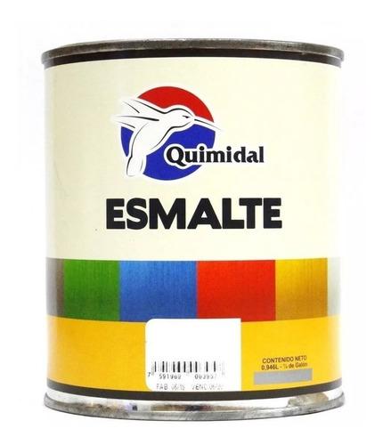 Pintura Esmalte Blanco Brillante Quimidal Sec/rapid 1/4galon