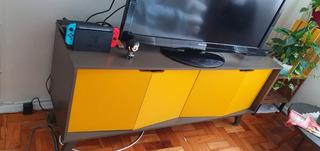 Buffet Oppa Vértice - 4 Portas - Amarelo