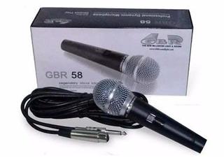 Micrófono Gbr Sm-58 Dinamico Vocal De Mano Con Cable Cuotas