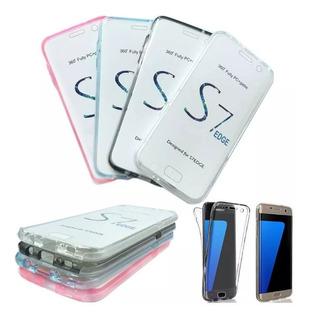 Capa Case Proteção Tela 360 Galaxy S7 Edge Varias Cores