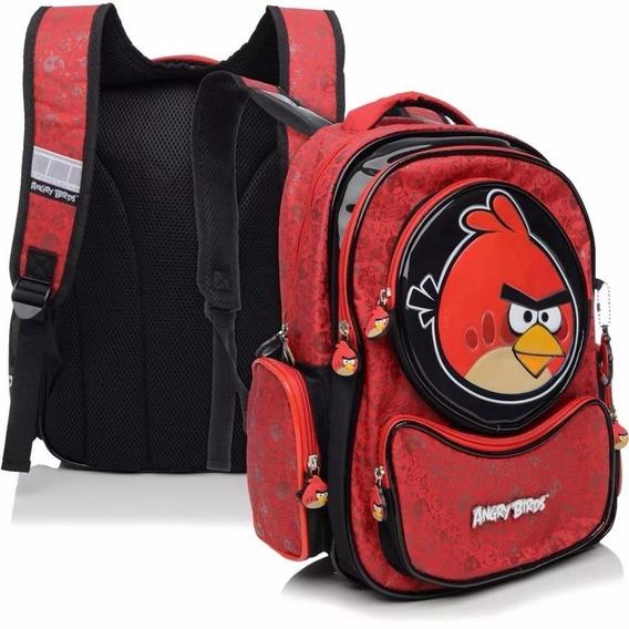 Mochila Notebook Juvenil Angry Birds Costas Tam G Santino