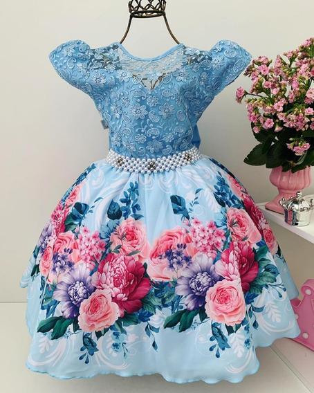 Vestido Infantil Luxo Princesa Florista Casamento Aniversári