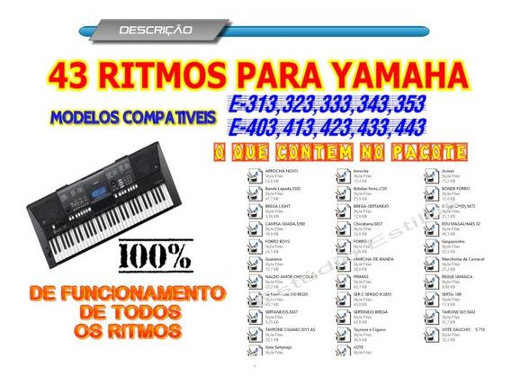 Pendrive Com Ritmos Yamaha Para 343, E-403,e-423,e-433