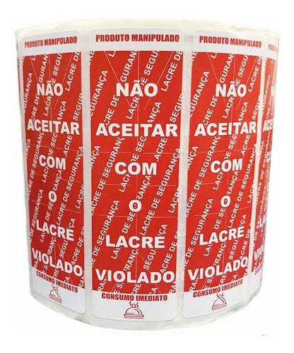 Kit 2 Mil Etiquetas Adesivas Lacre Para Delivery Alimentos