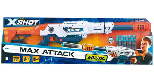 Imagen 1 de 7 de Xshot Lanza Dardo X12 Cargador Max Attack Pce 3694 Bigshop