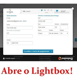 Opencart - Pagseguro Lightbox 3