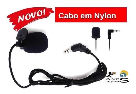 Microfone Lapela Stéreo Profissional 3.5mm Gravação Video P2
