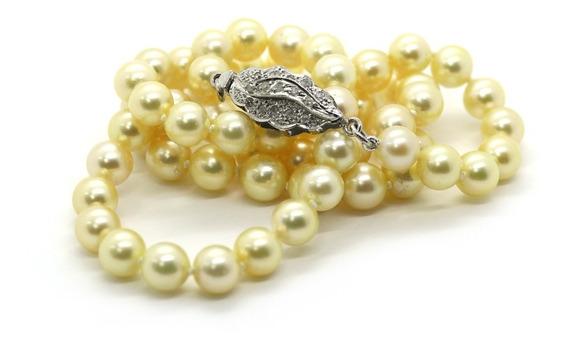 Colar Pérola Água Salgada Ouro Cravejado Diamantes J22753