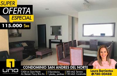 Hermosa Casa En Condominio San Andrés Del Norte