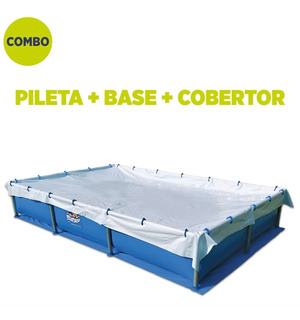 Pileta Pelopincho 1030 2,40x1,55x0,40 Mts + Base + Cobertor