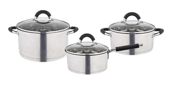 Bateria Cocina Acero Inoxidabl Inducción Triple Fondo Hudson