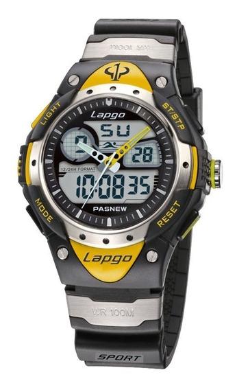 Relógio Esportivo Masculino Lapgo Pasnew Prova D