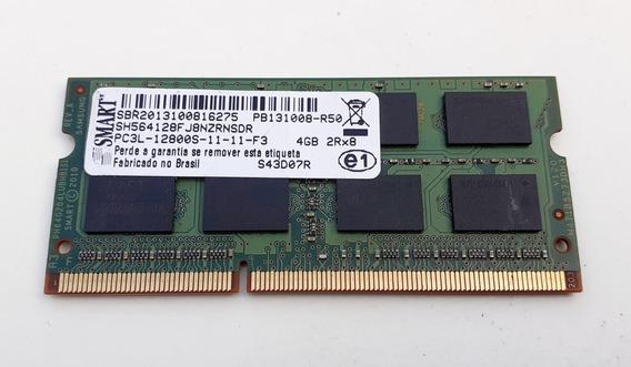 4gb De Memória Ram P/ Notebook Ddr3 - Marca Smart - Seminova