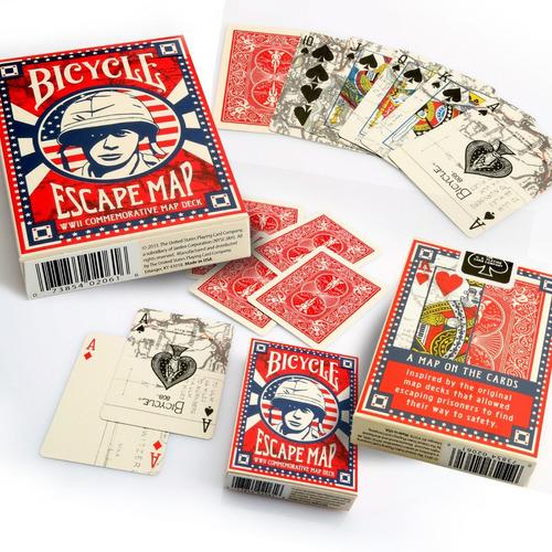 Naipe Cartas Baraja Bicycle Escape Map Originales